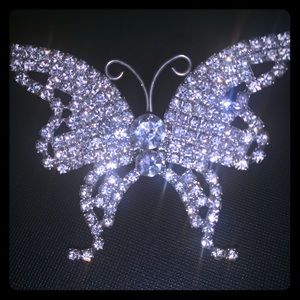 Beautiful silver butterfly ring